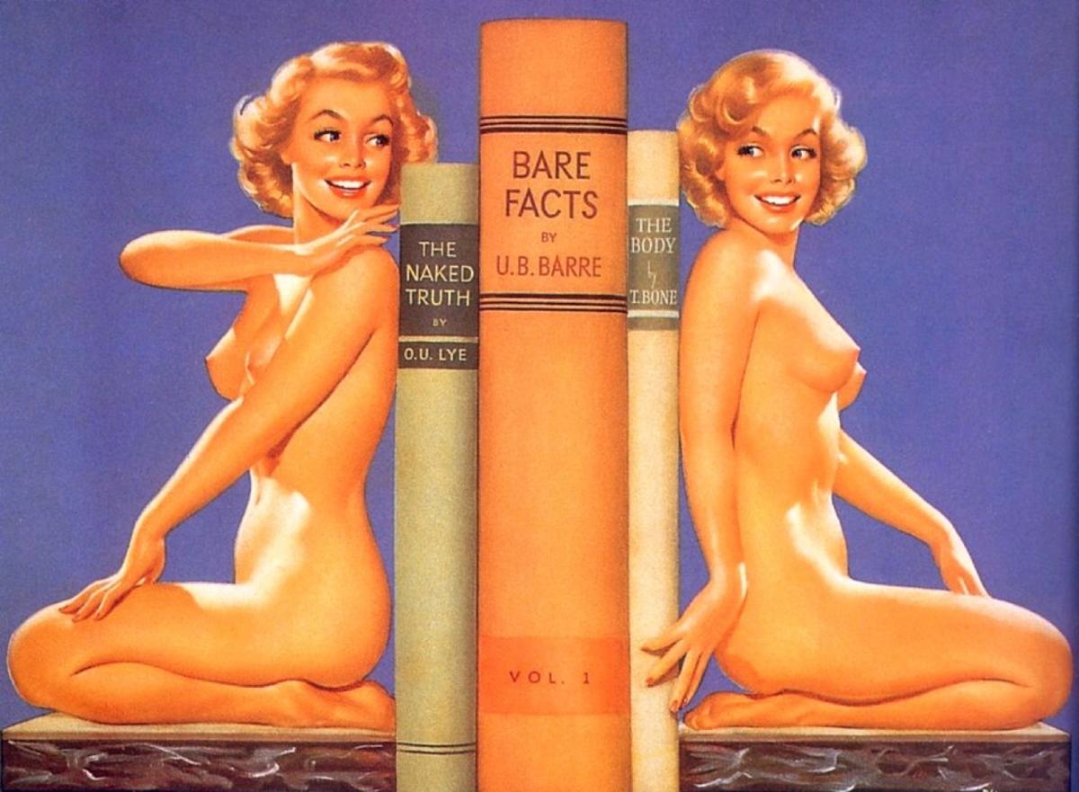 Ретро рисунки голых женщин, Старые, классические, ретро эротические фотографии 5 фотография
