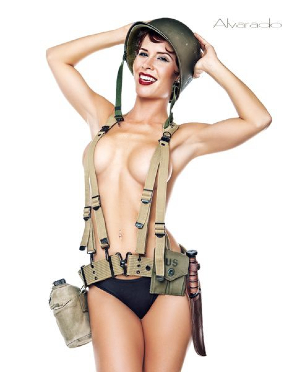 Apologise, Nude army pin up what necessary